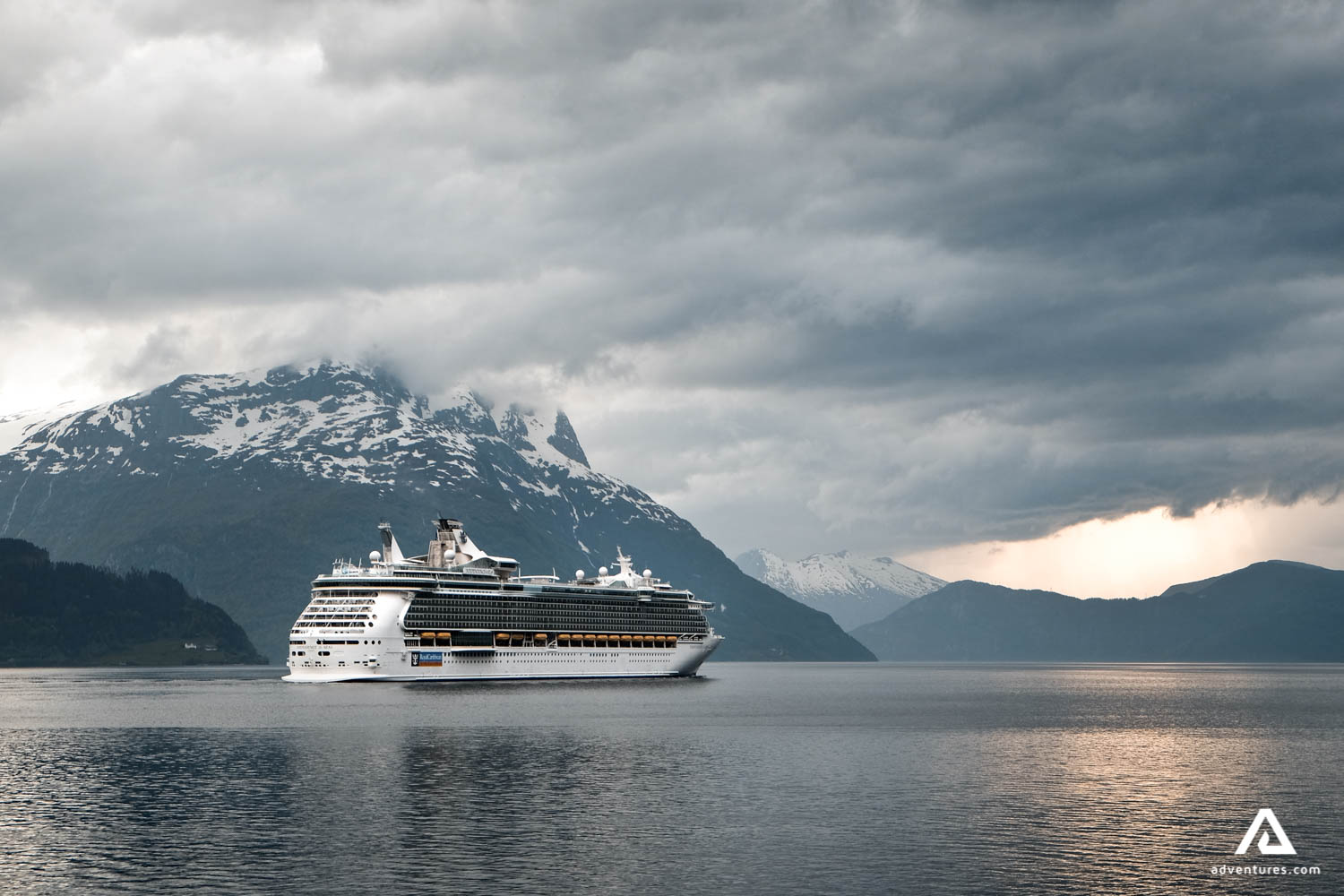 Cruise Ship In Canadian Fjords