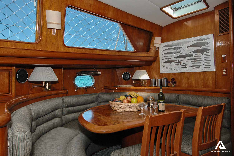 Cruise ship cabin interior