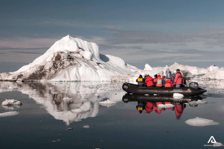 Tourists Explore Icebergs