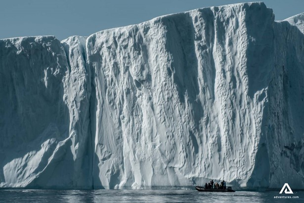 Ice cliff in Arctic Ocean