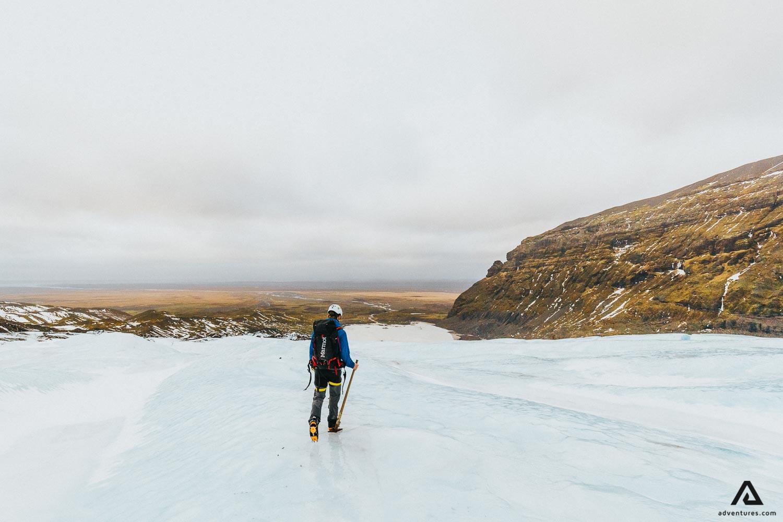 Walking on glacier
