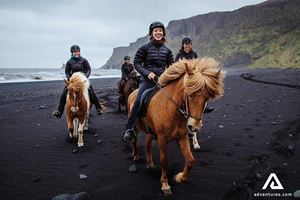 Black Beach Horse Riding In Iceland