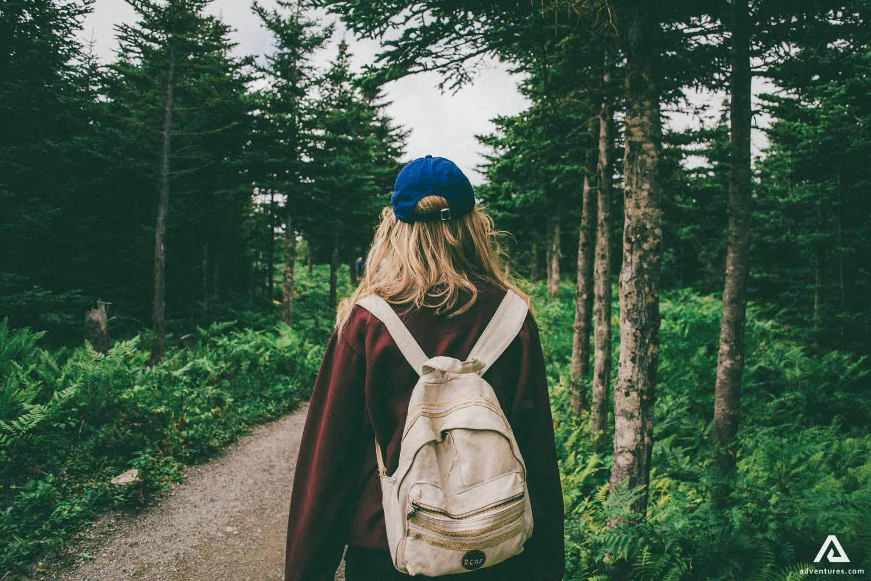 Nova Scotia Girl in the Woods