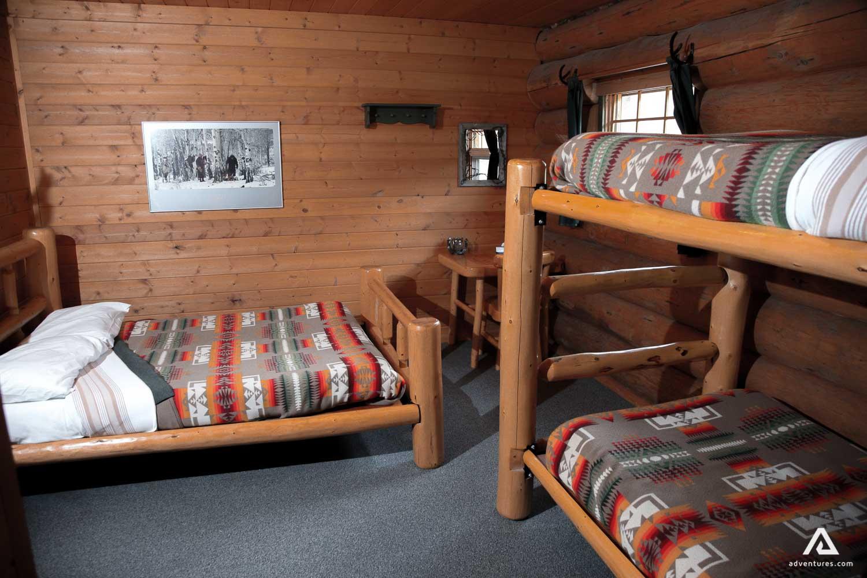 Bunk beds inside lodge