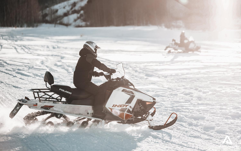 Extreme snowmobile ride