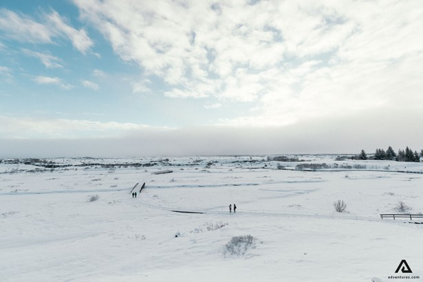 Tingvellir National Park in winter
