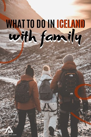 Family Hike In Iceland