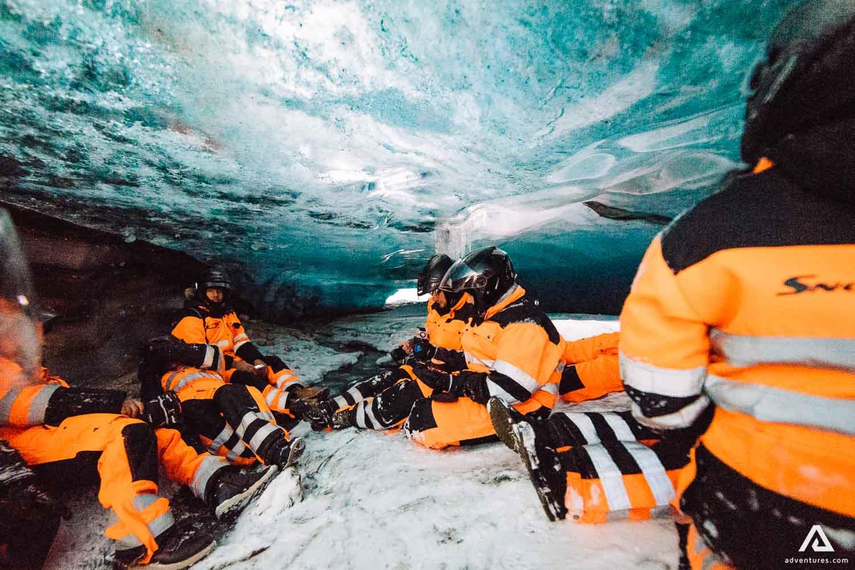 Inside Langjokull Ice Cave