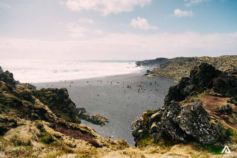 Snaefellsnes Peninsula black sand beach