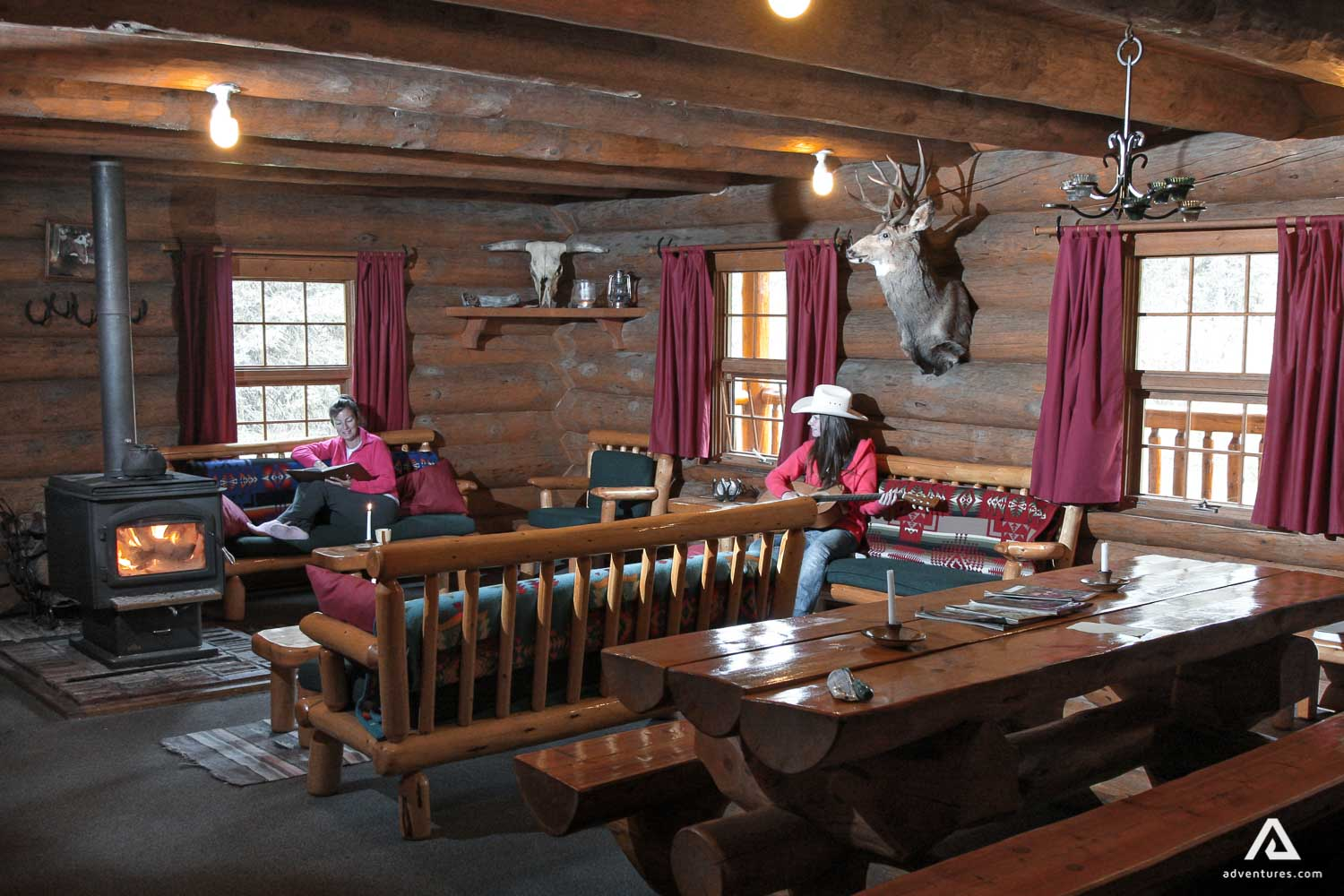 Cozy atmosphere in the lodge
