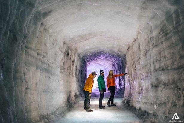 Exploring Into the Glacier - Ice Cave Tour