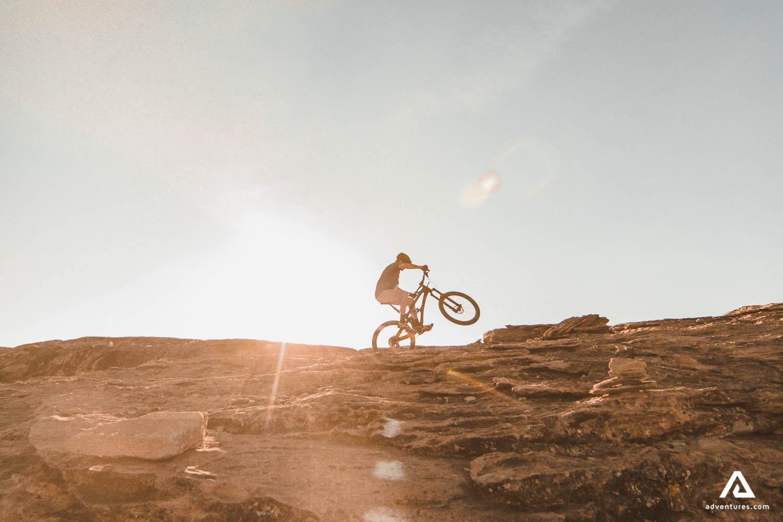 Extreme uphill biking
