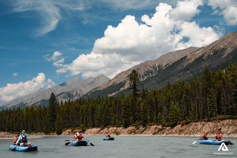 Canoeing along the Kootenay River