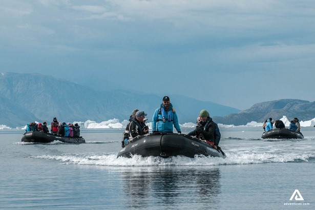 Boat tour around Greenland