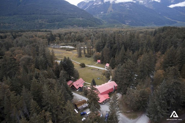 Aerial view of the village