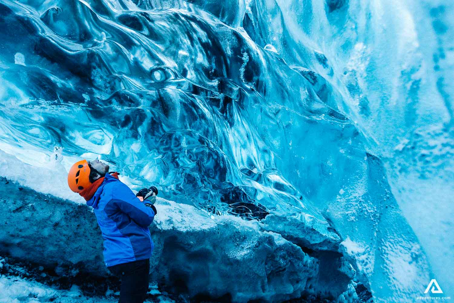 Crystal Ice Cave in Skaftafell