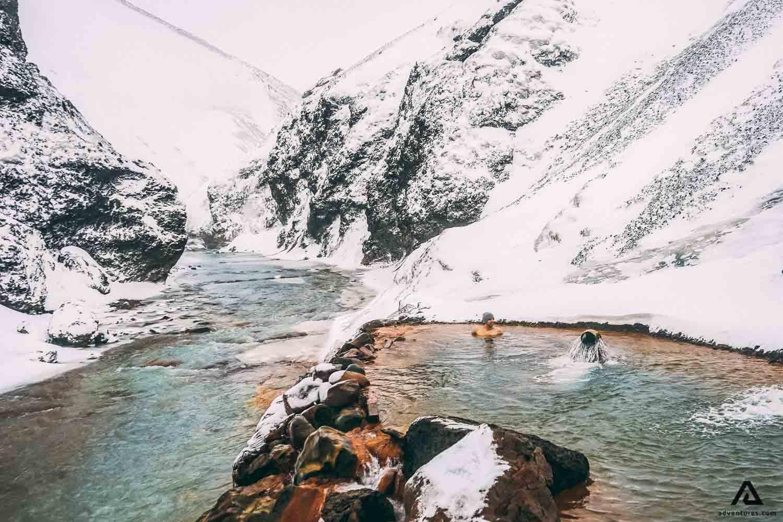 Swimming in Kerlingarfjoll Hot Spring
