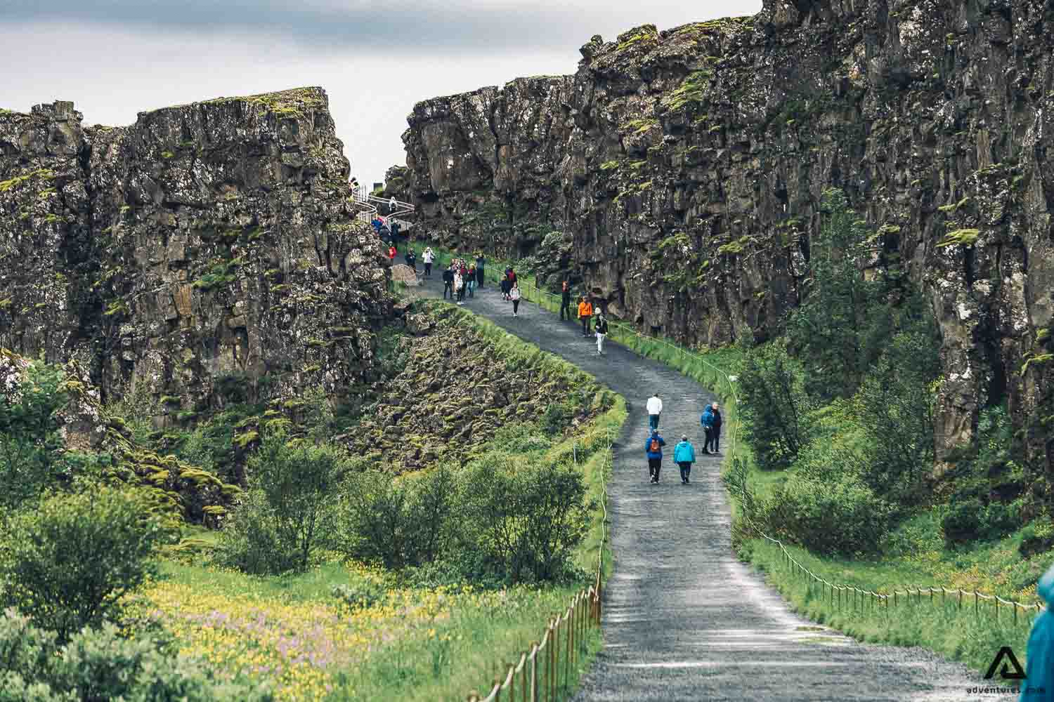 Tingvellir National Park walking
