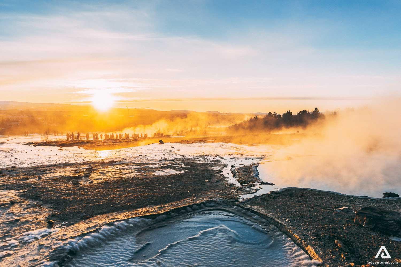 Geysir eruption area