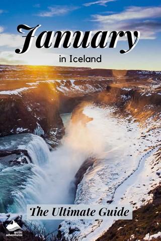Gullfoss Waterfall Panoramic View In Winter