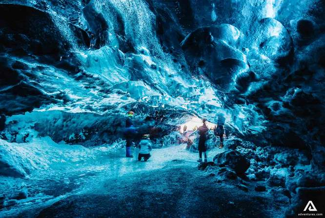 ice cave blue crystal