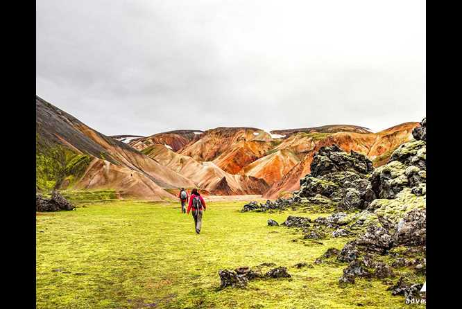 hiking highlands iceland