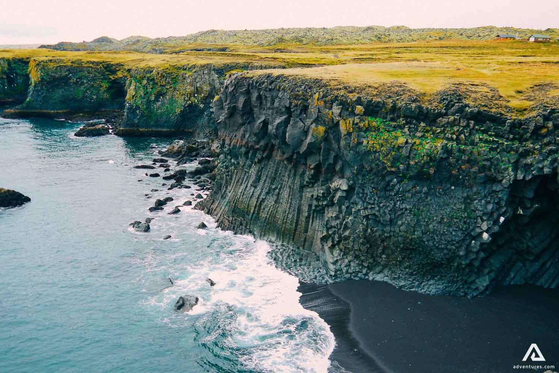 Snaefellsnes Peninsula sea shore cliffs