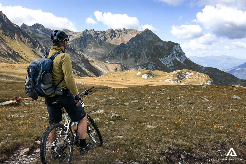 Man on a bike tour