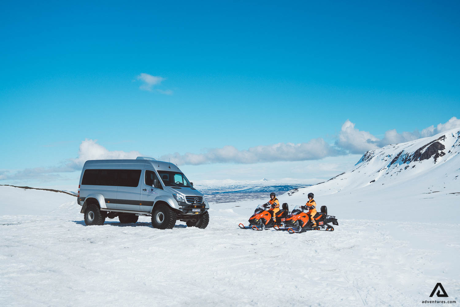 Super Jeep and Snowmobile tour