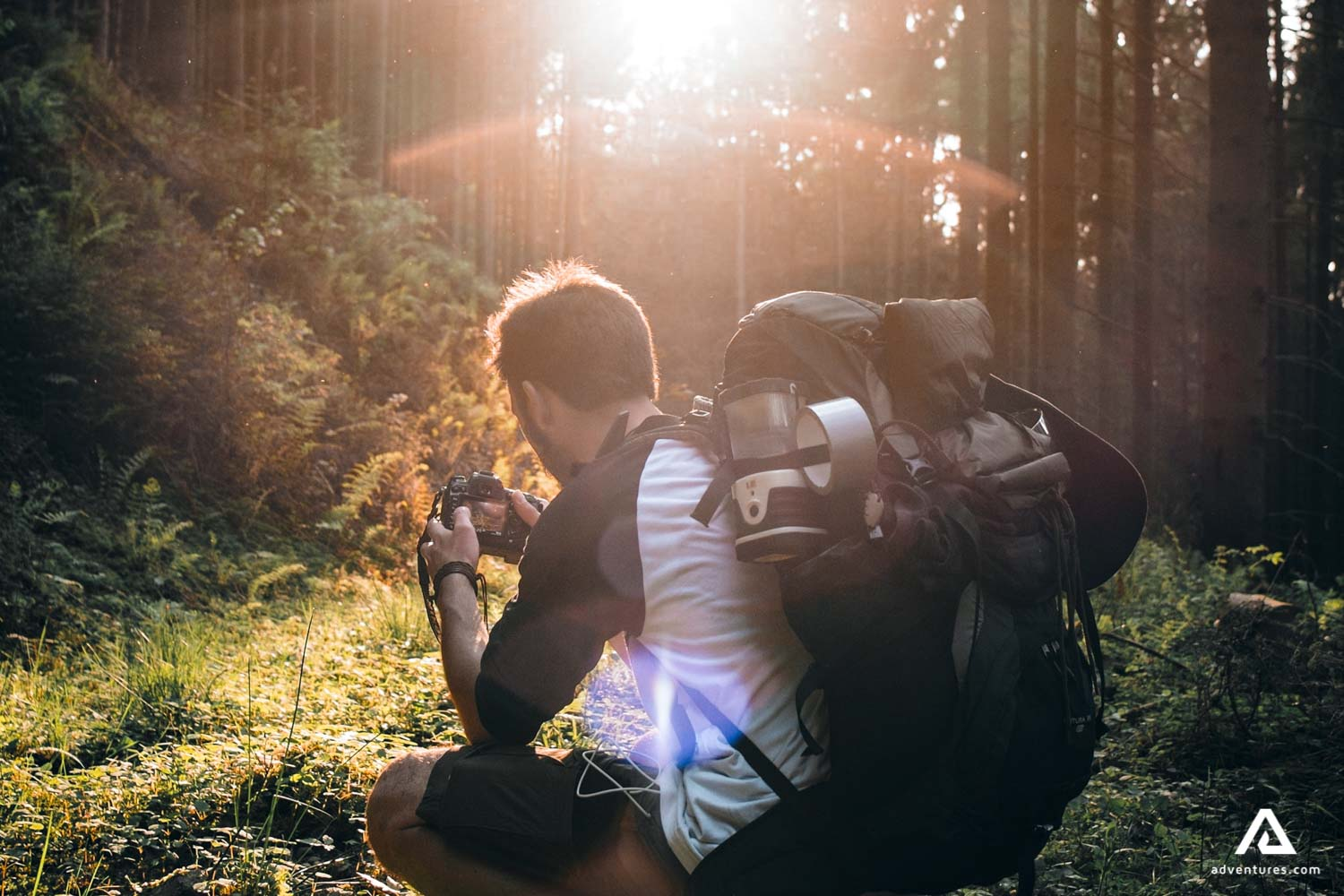 Taking picture of nature