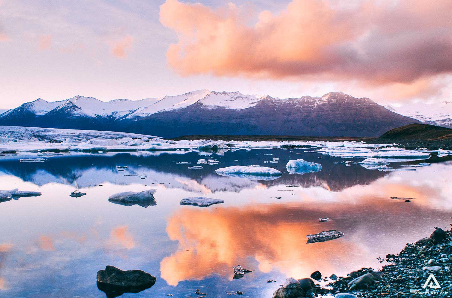 Jokulsarlon Lake scenery