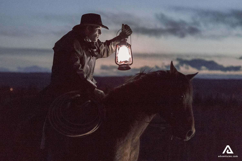 Night horseback ride