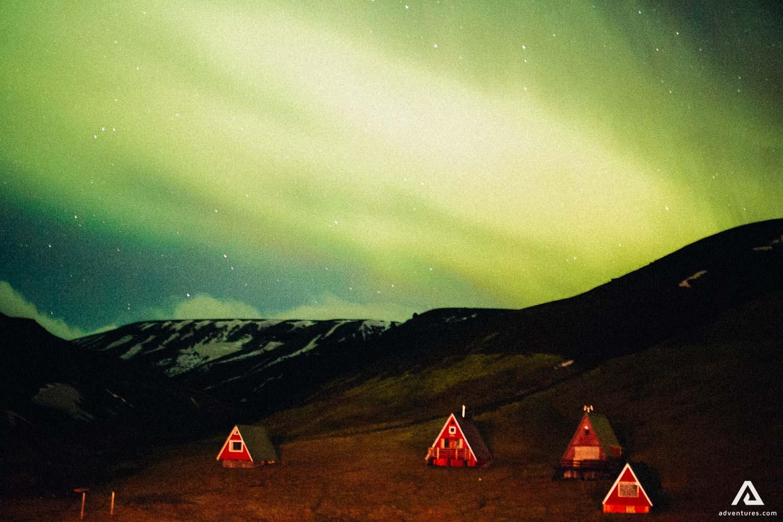 Watching Northern Lights in Kerlingarfjoll