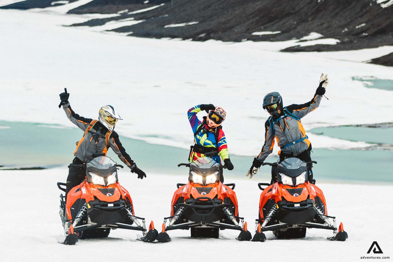 Langjokull Snowmobiling People Fun Activity Iceland Golden Circle