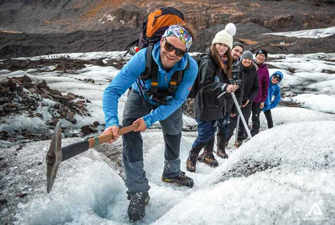 Hike on Vatnajokull glacier with a certified glacier guide