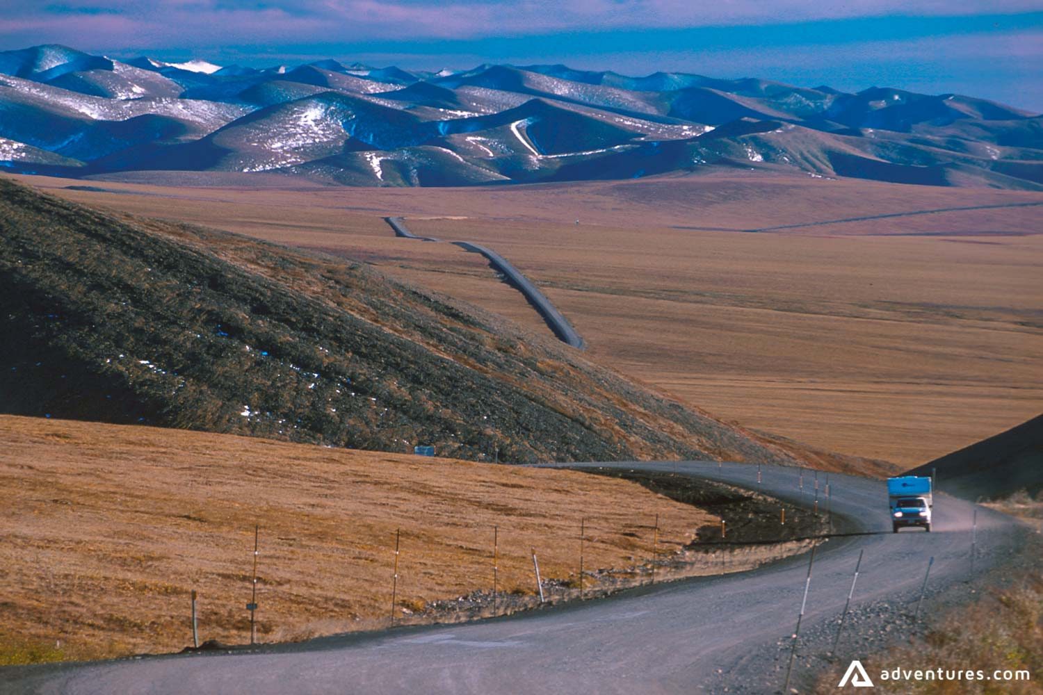 Road with a view to Dempster Highway Landscape
