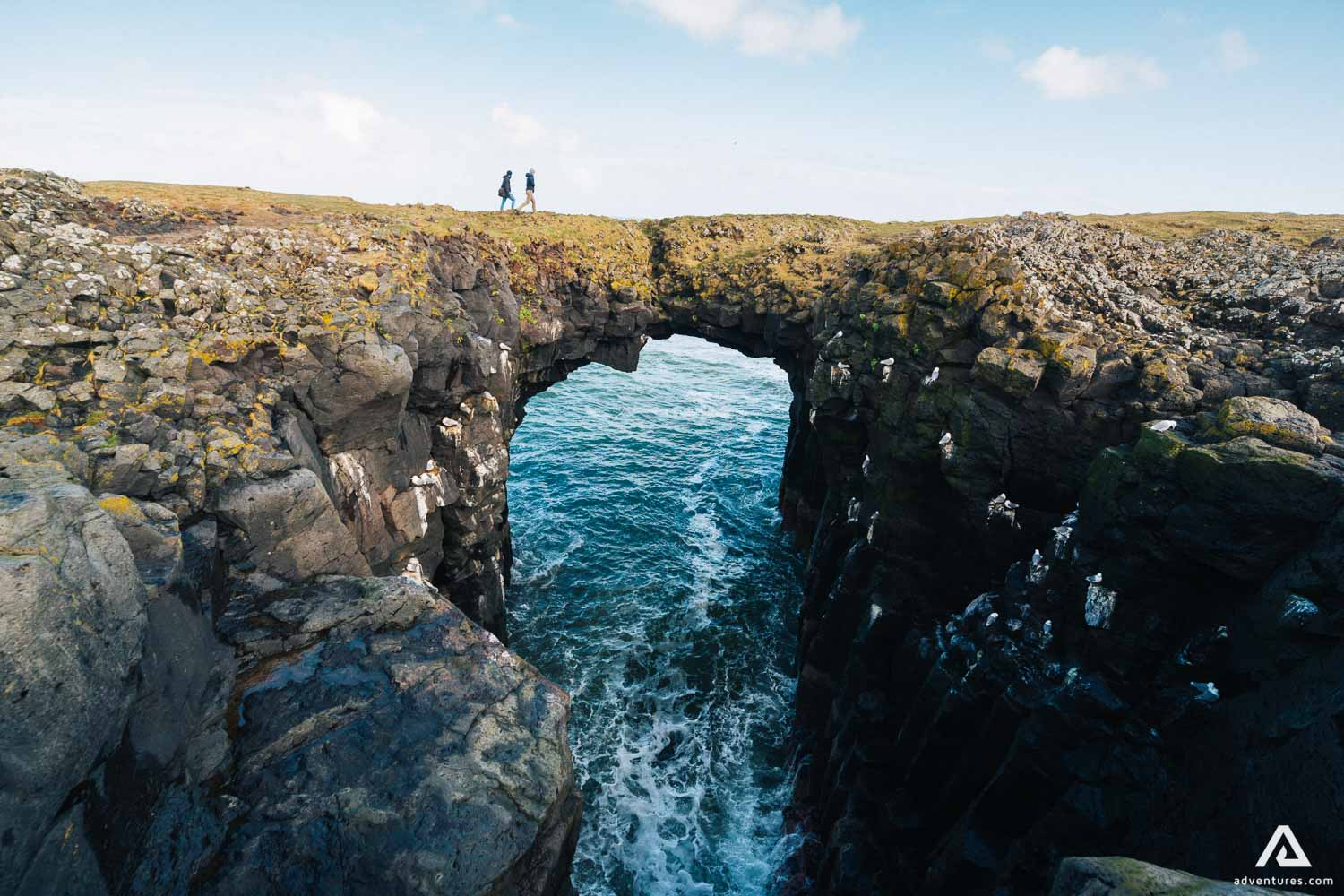 Snaefellsnes cliff with hole