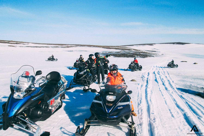 Snowmobiling in Kerlingarfjoll