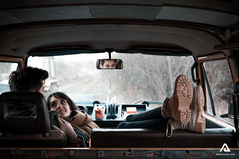 Couple on Van Road Trip