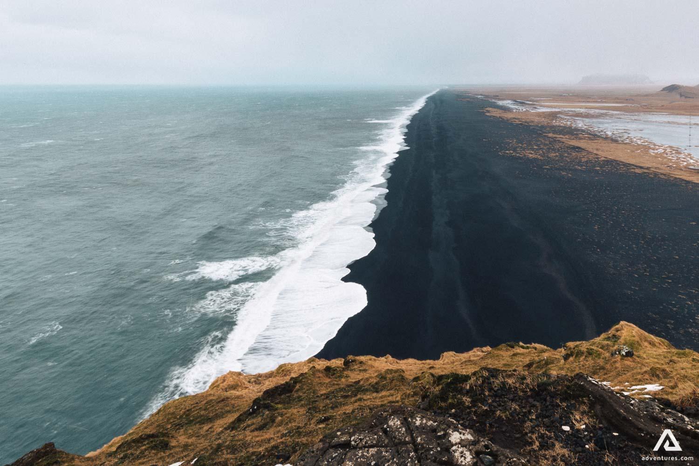 Black beach in Dyrholaey