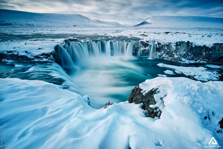 Magic Godafoss waterfall