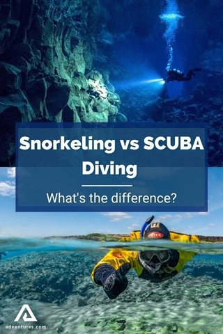 Snorkeling Vs SCUBA Diving Difference Pinterest Pin