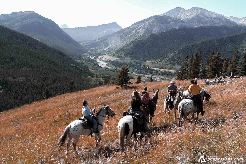 People on Horseback riding trip
