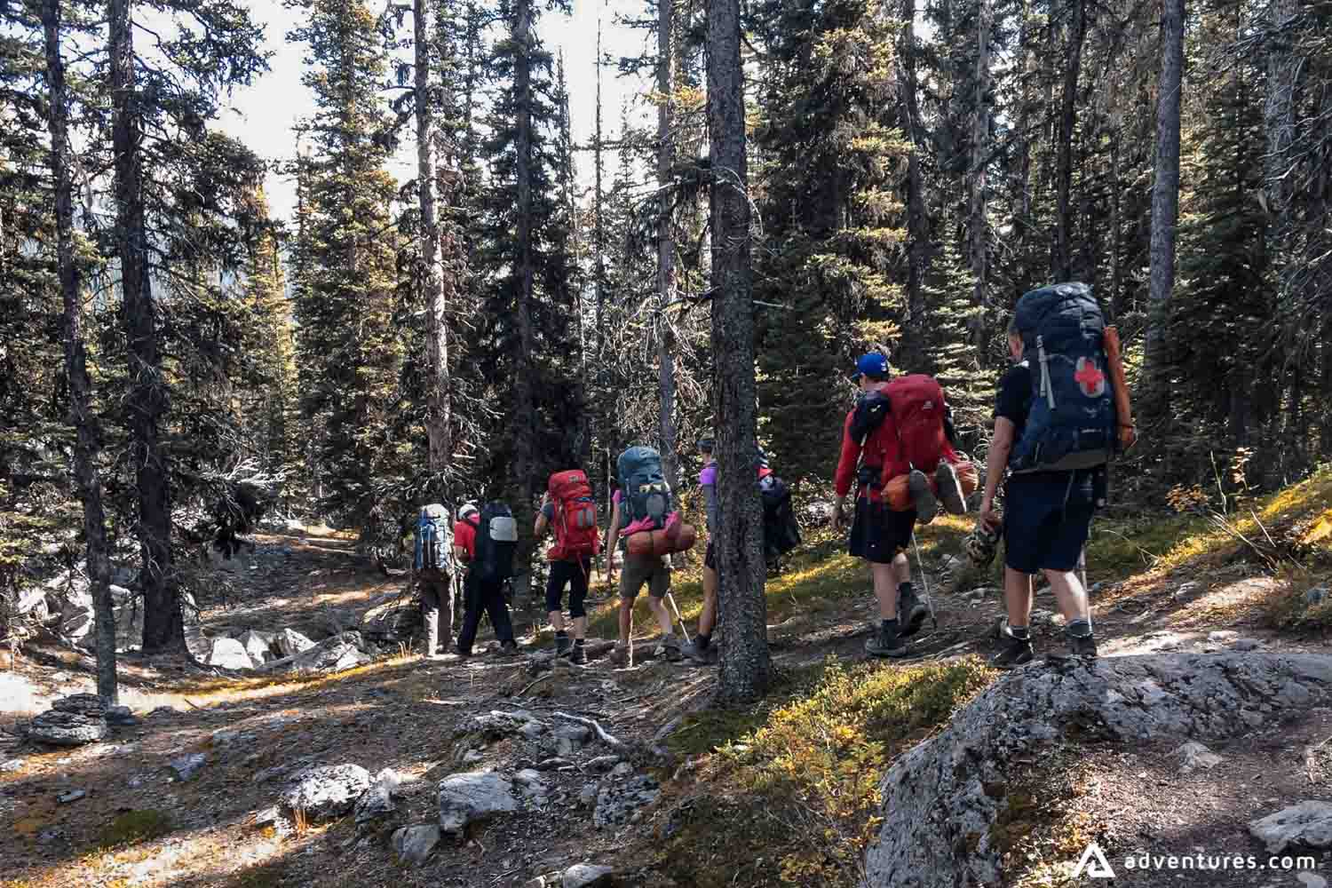 Backpacking through the Banff Trail