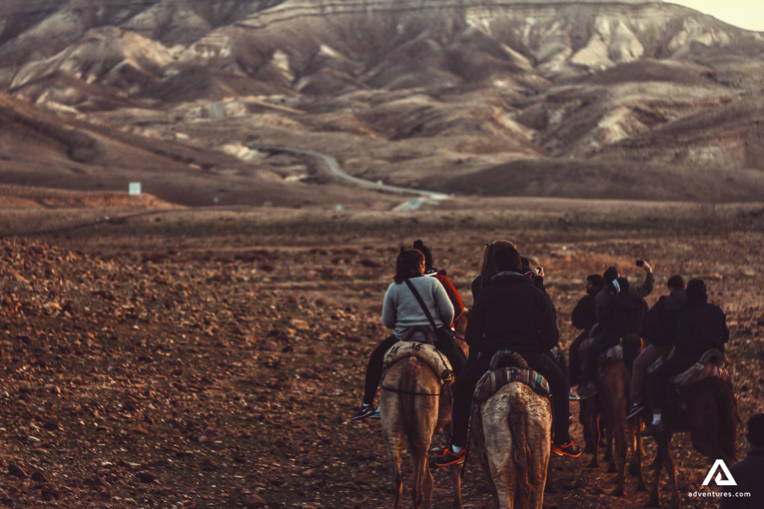 People on a horseback riding tour